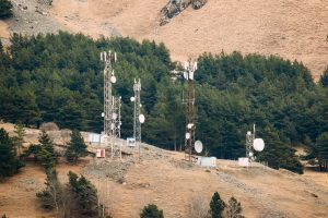 Batumi, Adjara, Georgia. Telecommunications Cell Phone Tower Wit