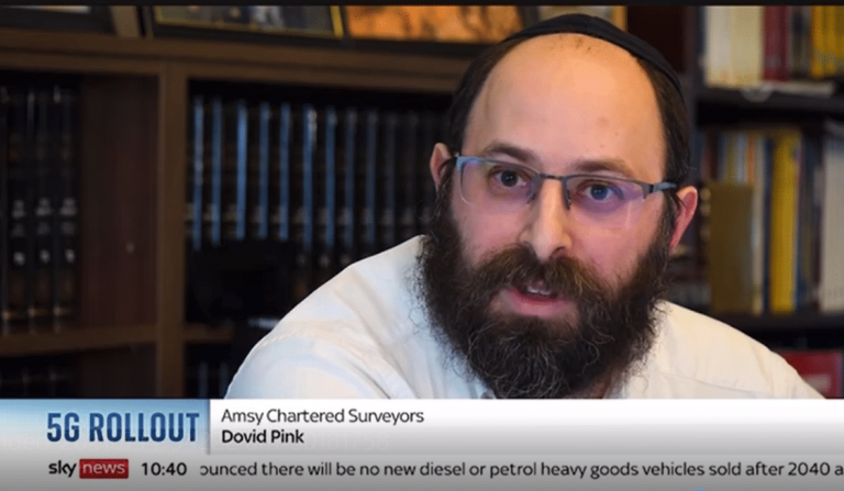 Dovid Pink chats with Sky News about the reduction in phone mast rents and the rollout of 5G